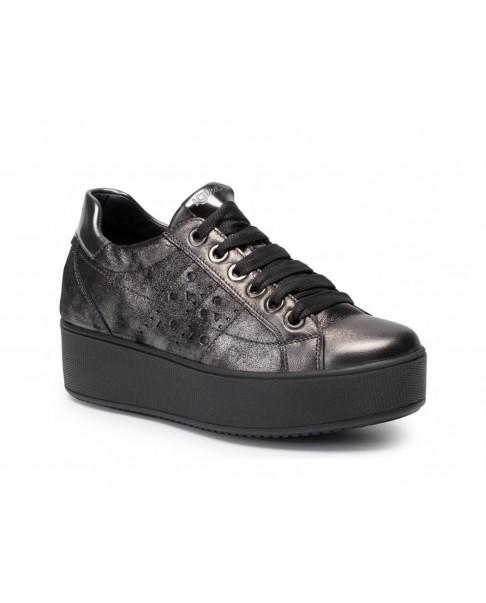 premium selection 5e2a0 7dcb0 IGI&CO 4152222 sneakers scarpe zeppa alta donna pelle