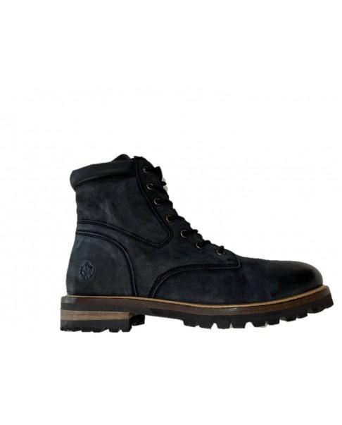 LUMBERJACK KYTON SM67801 Scarponcini Anfibi Stivaletti Biker scarpe alte pelle nero