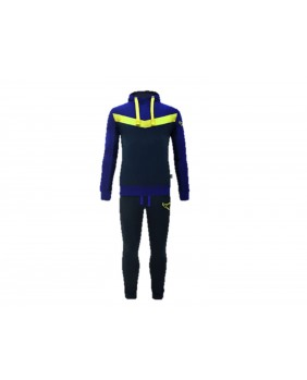 LEGEA STRONG Tuta con cappuccio uomo fashion athletic comfort blu cotone