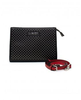 CAFENOIR HBPZ1663 borsa borchie tracolla nero donna