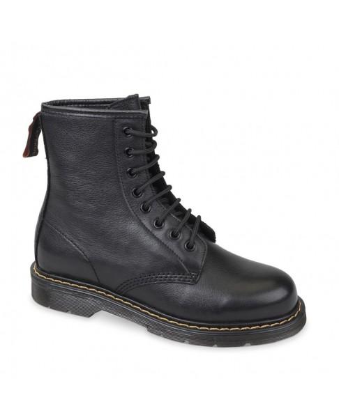 VALLEVERDE VALLETEX VL18518 Tronchetto scarpe zeppa stivaletto pelle donna impermeabile nero