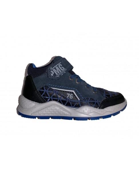 PRIMIGI 4389700 polacchini scarpe sneakers bambino pelle blu