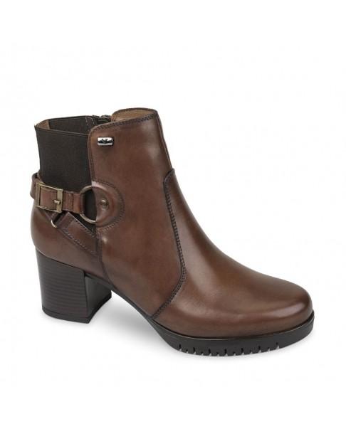 VALLEVERDE 49351 Tronchetto cuoio scarpe stivaletti tacco pelle donna