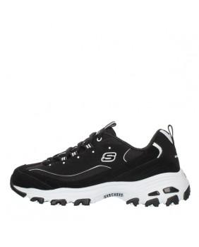 SKECHERS D' LITES 13148 black scarpe da ginnastica sneakers