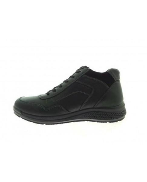 ENVAL SOFT 4229700 polacchini scarpe uomo pelle nero zip con memory foam