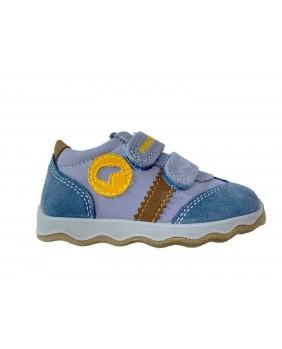 PRIMIGI 4359622 scarpe sneakers bimbo primi passi blu pelle