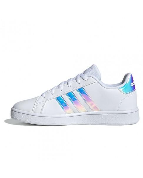 ADIDAS GRAND COURT K FW1274 sneakers donna bianco specchio