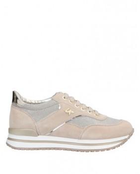 LUMBERJACK LIKE SW04805 sneakers scarpe sneakers donna pelle beige