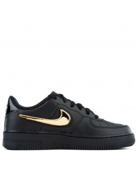 NIKE AIR FORCE 1 sneakers nero con logo exchange color