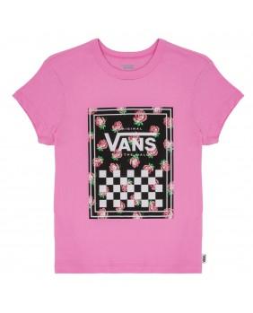 VANS t-shirt maglia manica corta rosa