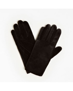GUESS AW8514POL02 guanti gloves lana donna invernale nero velluto