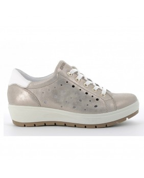 ENVAL Soft 5274877 sneakers scarpe stringate casual donna taupe