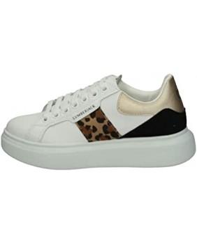LUMBERJACK JULIETTE SWB6612 sneakers scarpe donna pelle bianco animalier