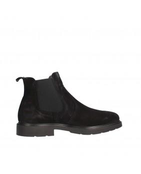 IGI&CO 2100933 nero beatles scarpe uomo pelle scamosciata