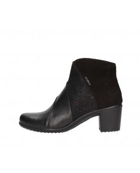 ENVAL Soft 2253100 stivaletto tronchetto nero scarpe in pelle con tacco donna