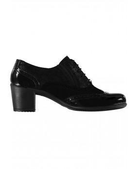 ENVAL Soft 2253000 scarpe in pelle stringate stile inglese francesine con tacco donna
