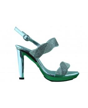 REPO Phil Gatiér sandalo donna gioiello tacco alto argento