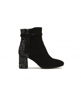 IGI&CO 2193233 nero stivaletto tronchetto scarpe in pelle con tacco donna
