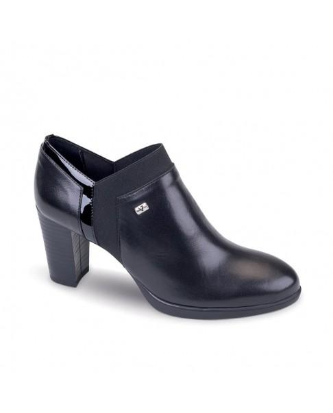 VALLEVERDE Tronchetto scarpe stivaletto pelle donna nero