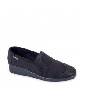 VALLEVERDE pianelle pantofole chiusa donna panno nero