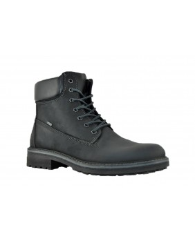 IGI&CO GORETEX 2129300 stivaletti scarpe impermeabili uomo pelle nabuk nero