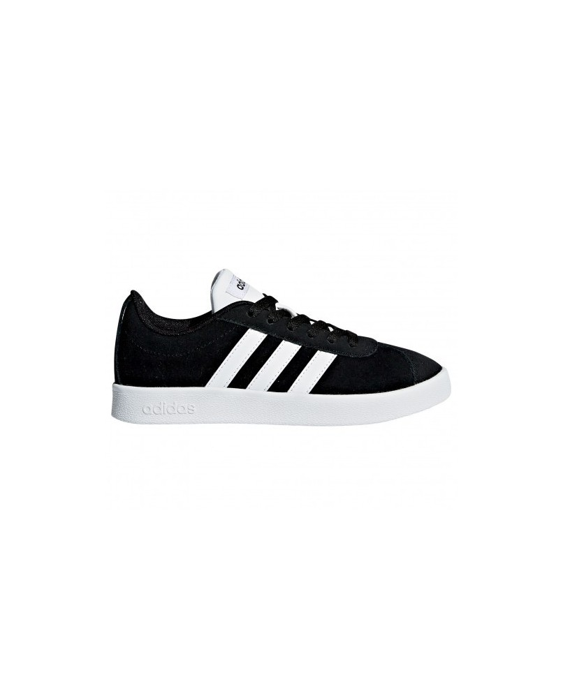 info for 301a5 86a20 ADIDAS VL COURT 2.0 K DB1827 sneakers camoscio nero