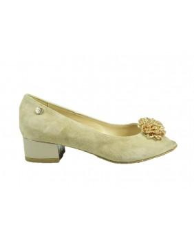 ENVAL SOFT 3297033 sandalo beige donna in pelle con tacco