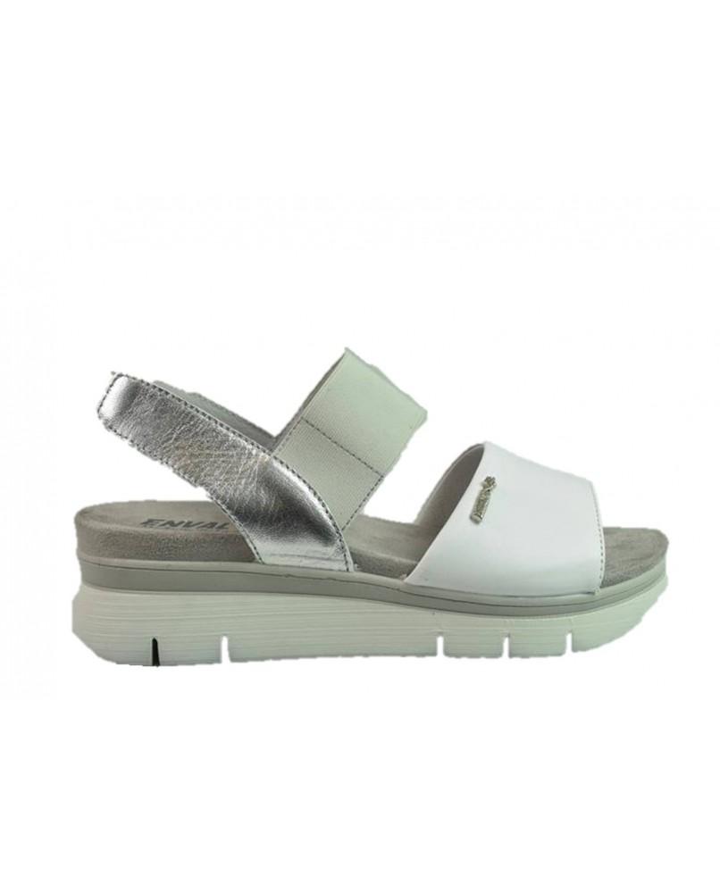 Sandali Donna Pelle Soft Bianco Zeppa 3286711 Enval f7ybY6g