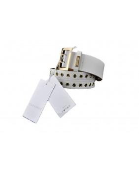 CAFéNOIR ICG134 cintura donna con borchie bianco