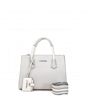 CAFèNOIR BA111 borsa bauletto con specchietto argento donna