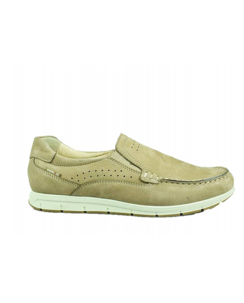 brand new 57086 482ed ENVAL SOFT 3238055 scarpe mocassini slip on boat pelle nabuk beige