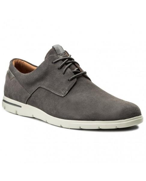 nuovo prodotto 40c4e acfac CLARKS Vennor Walk scarpe basse stringate oxford boat grigio uomo