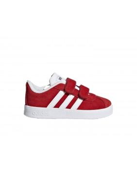 ADIDAS VL COURT 2.0 CMF I sneakers scarpe rosso camoscio