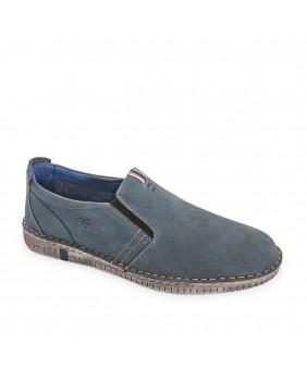 VALLEVERDE mocassini espadrillas College scarpe uomo in pelle blu casual