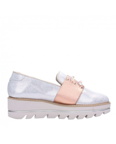 CALLAGHAN 14821 Wars sneakers mocassini slip on ultralight donna pelle nude