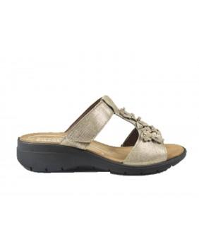 ENVAL SOFT 3282788 sandalo scalzato zeppa donna in pelle