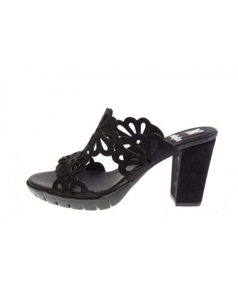 CALLAGHAN 99113 sandalo scalzato donna scarpe tacco zoccolo pelle nero