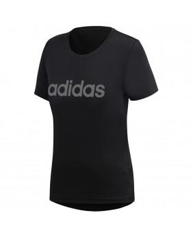 ADIDAS DS8724 t shirt W D2M LO TEE donna nero maglia manica corta